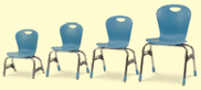 4-leg stack chairs