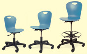 task chairs and lab stool